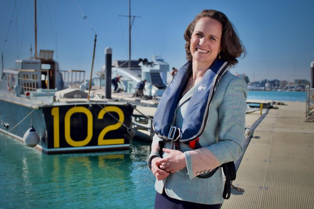 Hannah Prowse, the new chief executive of Portsmouth Naval Base Property Trust. Photo: Julian Civiero