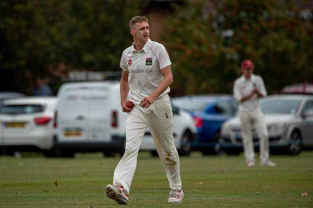 Fareham & Crofton's Ben White bowled a tight eight-over spell and scored a quickfire 30 in his side's Hampshire League victory over Curdridge. Picture: Vernon Nash