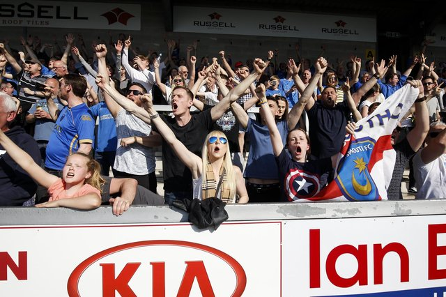 Pompey fans are looking forward to getting back to Fratton Park to support their team.  Picture: Daniel Chesterton/phcimages.com