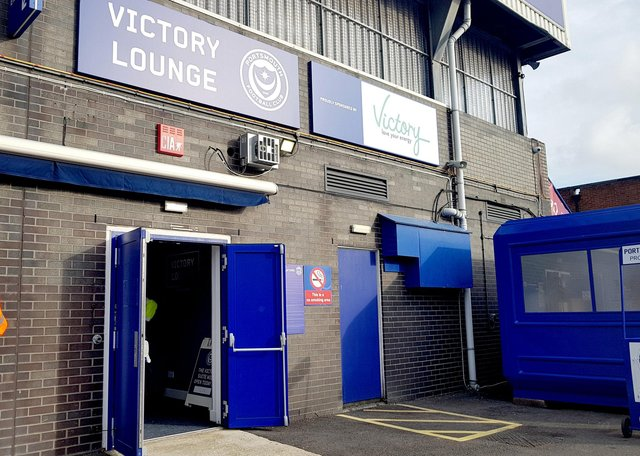 Defunct council-owned company Victory Energy sponsored Portsmouth Football Club in March 2018 in a three-year deal. A sign shown the now-closed public firm at Victory Lounge, Fratton Park, in Portsmouth. Picture: Habibur Rahman