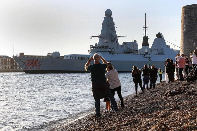 HMS Dragon leaving Portsmouth in 2018. Picture: Ministry of Defence