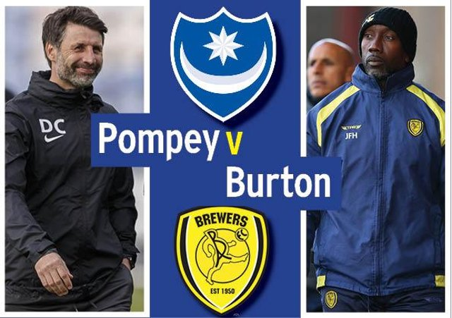 Pompey host Burton today in League One