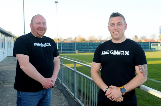 Steve Fletcher (41) from Hamble and Adam Bland (34) from Gosport. Picture: Sarah Standing