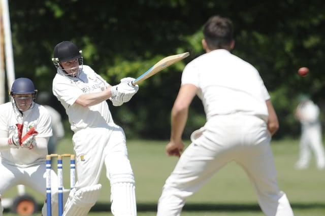 Gosport captain Lee Harrop  hit 62 against Tichborne Park. Picture: Ian Hargreaves