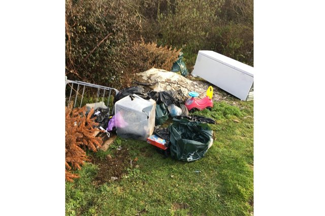 Some of the rubbish left dumped by a man from Havant