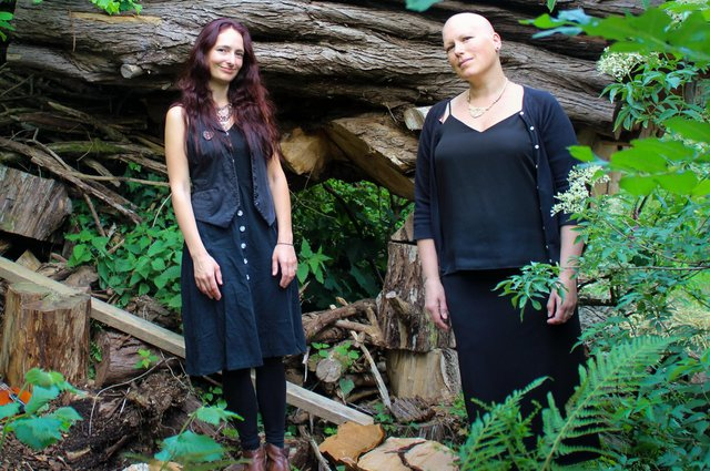 Miranda Sykes, right, and Hannah Martin, who will be playing at The Square Tower, Old Portsmouth in Setpember 2021.