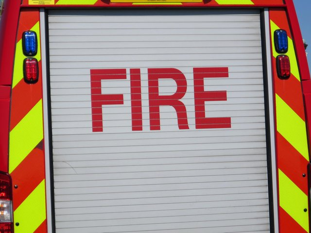 Fire crews have been called out to a first floor fire in a block of apartments in Denmead.