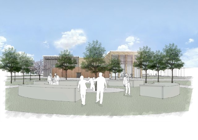 How the new leisure centre at Bransbury Park could look. Picture: Portsmouth City Council