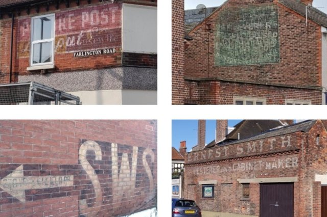 A collage of some of Portsmouth's interesting ghost signs, captured by Tim Sheerman-Chase.