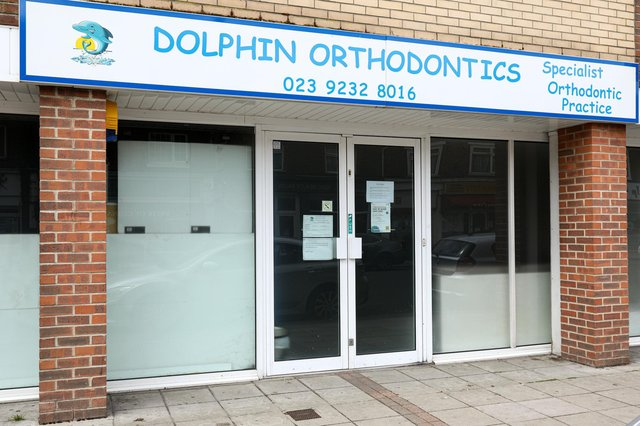 Dolphin Orthodontics, High St, Cosham, where a dentist has been suspended for failing to comply with Covid-19 regulationsPicture: Chris Moorhouse (jpns 100521-01)
