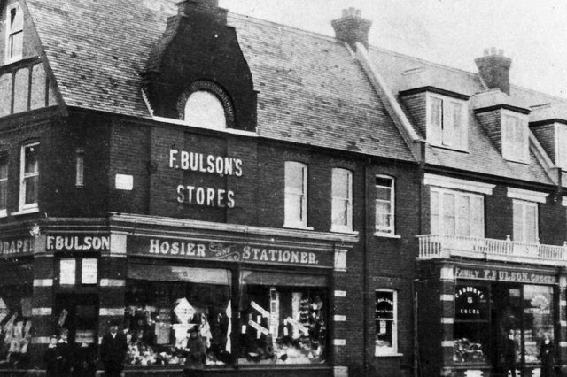 Bulson's Stores and Pleasure Retreat in High Street, Lee-on-the-Solent, the closest Lee got to having a department store in its main street.