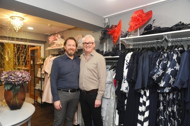 (l-r) Robert and Andrew Pearce, owners of Creatiques Bridal Boutique in Southsea