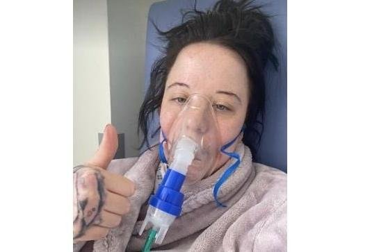 Kirsty Hext, of West Leigh, who suffered a bad reaction to her Covid jab and was placed in an induced coma