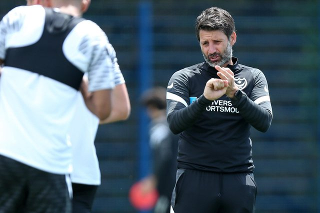 Danny Cowley welcomed what remains of the Pompey squad to pre-season training this week.  Picture: Chris Moorhouse