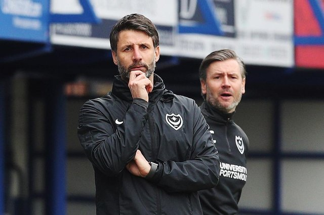 League Division 1 - Portsmouth vs Ipswich Town - 20/03/2021New Portsmouth's Manager Danny Cowley Portsmouth's Assistant Manager Nicky Cowley