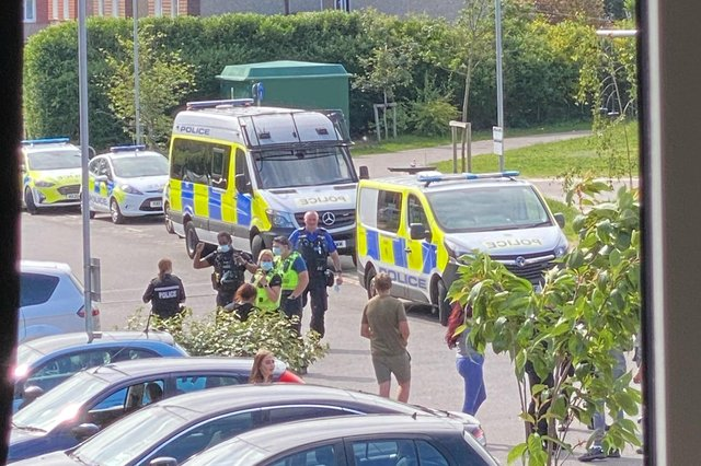 Police attend an incident in Fred Francis Close