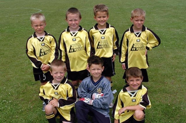 Flashback, Boarhunt under-6s. Back (from left):  Luke McCormick, Jamie Donovan, Cameron Hopkins, Harry Birmingham. Front: Matthew Lawrence, James King, Mason Mount.
