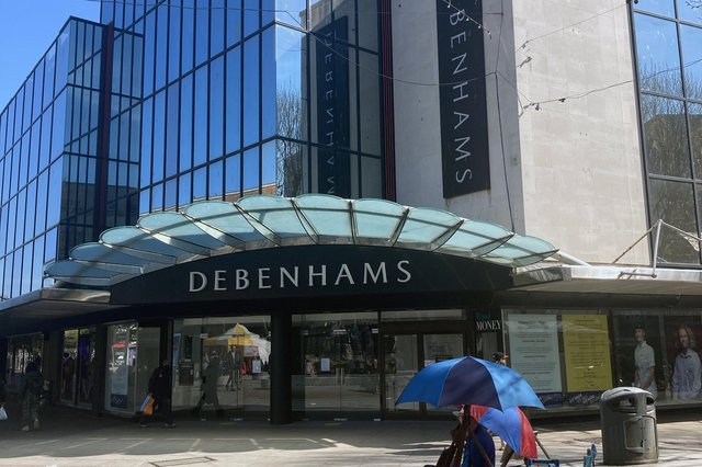 The closed Debenhams store in Commercial Road. Picture: Steve Deeks