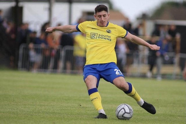 Summer signing scored in Hawks' friendly win at Horndean. Picture: Kieron Louloudis