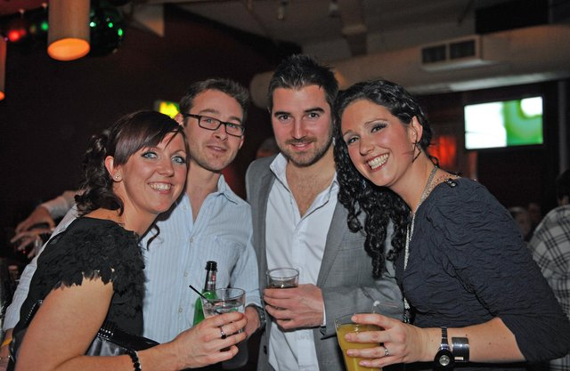 Clubbers enjoy a Christmas night out at Tiger Tiger in Gunwharf Quays on December 17, 2010. Picture: (104125-267)