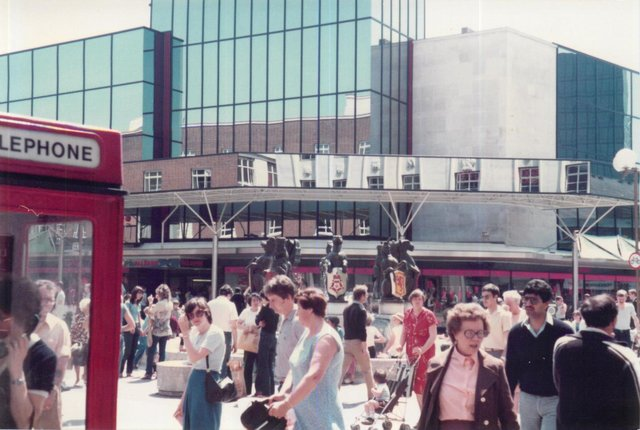 Commercial Road in the 1980s captured by Steve Spurgin.