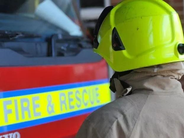 Fareham firefighters were deployed this evening to tackle caravan park car fire