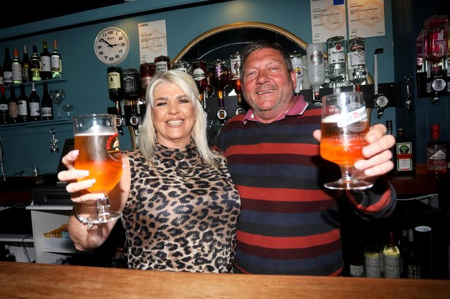 Garry Disdle, 63, and his wife Sue Disdle, 56, pictured in their pub Sir Loin of Beef in Highland Road, Southsea.   Picture: Sam Stephenson