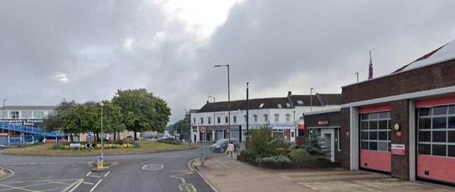 Cosham fire station and the roundabout on Northern Road. Picture: Google Maps