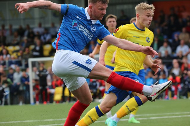 Ryan Tunnicliffe fires home for Pompey at Hawks
