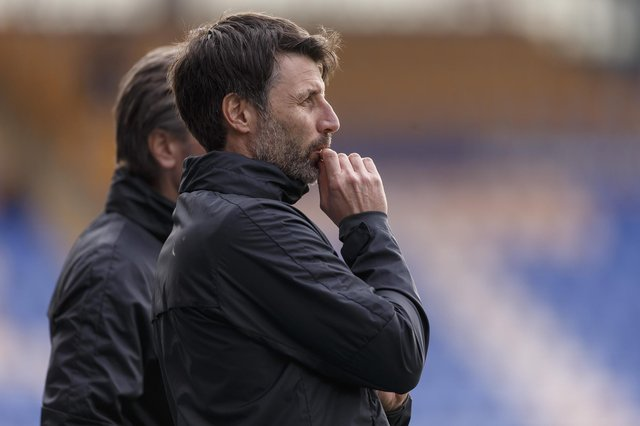 Danny Cowley believes Pompey's second-half display shows they still have much to learn. Picture: Daniel Chesterton/phcimages.com