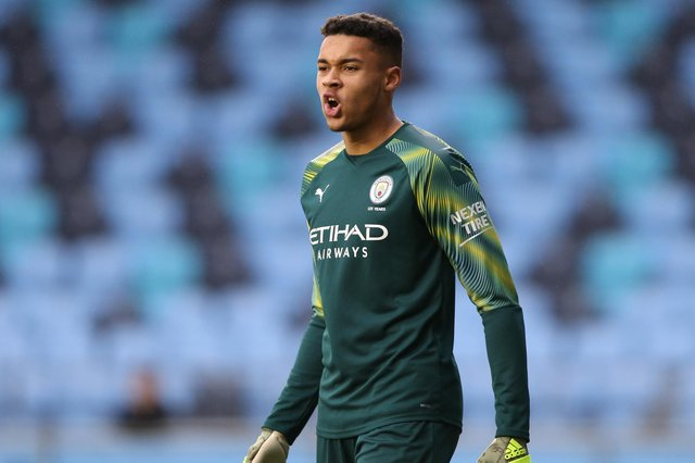Manchester City keeper Gavin Bazunu. Picture: Charlotte Tattersall/Getty Images