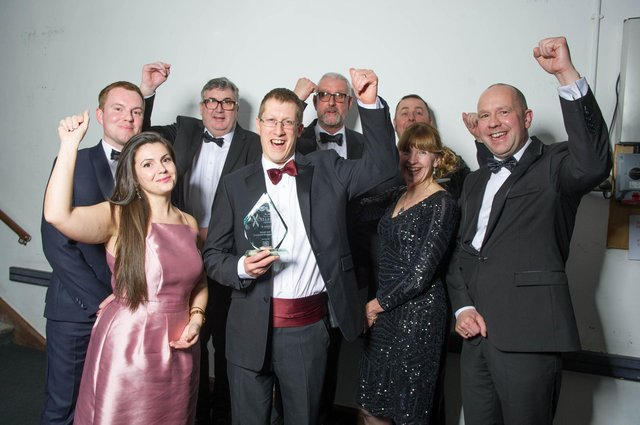 Portsmouth International Port, winners of the Sustainable Business award, celebrate at The News Business Excellence Awards 2020 at Portsmouth Guildhall
