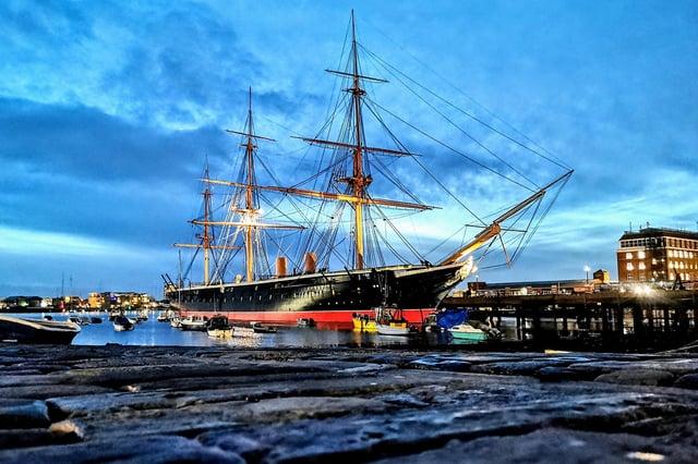 One of Portsmouth's most-loved landmarks, HMS Warrior. Picture: James Davidson