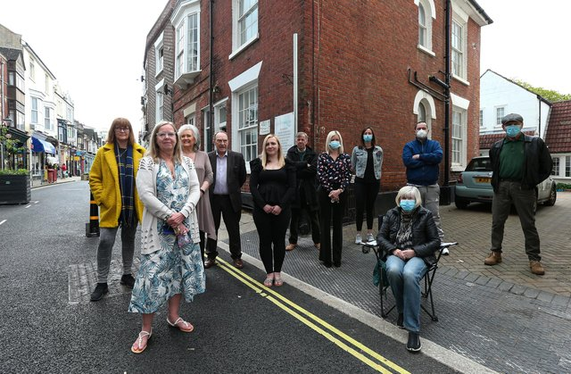 Residents of Castle Rd, Southsea, say the feel trapped in their homes and the noise generated by outdoor drinkers is 'horrendous'. Pam McGuiness, front leftPicture: Chris Moorhouse (jpns 140521-17)
