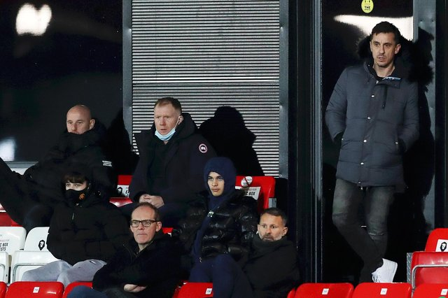 Salford City owners Gary Neville, Nicky Butt, Paul Scholes and Ryan Giggs will be eaglery looking on from Wembley  Picture: Naomi Baker/Getty Images