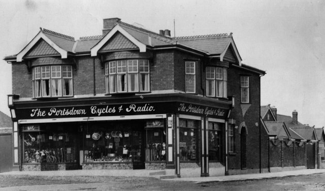 The former Portsdown Cycles & Radio premises on the corner of London Road and Lansdowne Avenue, Widley. Picture: Barry Cox collection