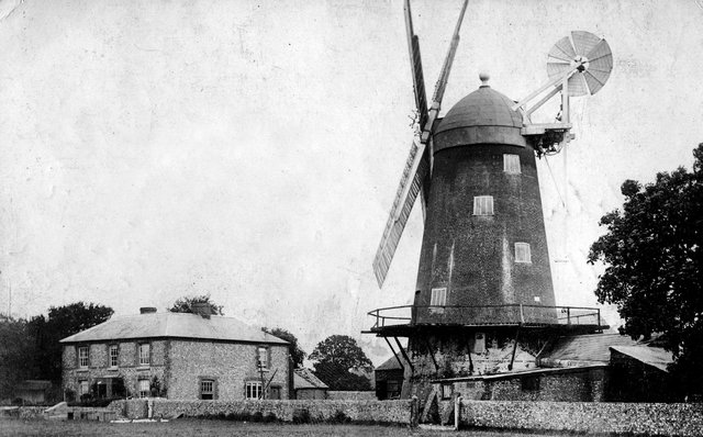 Gale's Mill at Denmead. The windmill was built in 1819 and demolished in 1922. Picture: Paul Costen collection