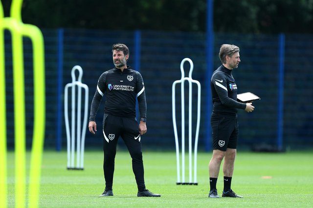 Pompey boss Danny Cowley's first pre-season fixture is to take place tomorrow against a Championship club. Picture: Chris Moorhouse