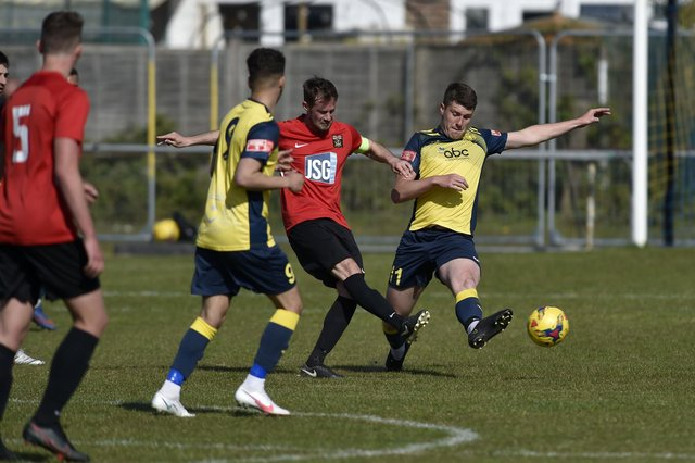 Fareham captain Tom Settle in action during the loss to Moneyfields. Picture: Allan Hutchings