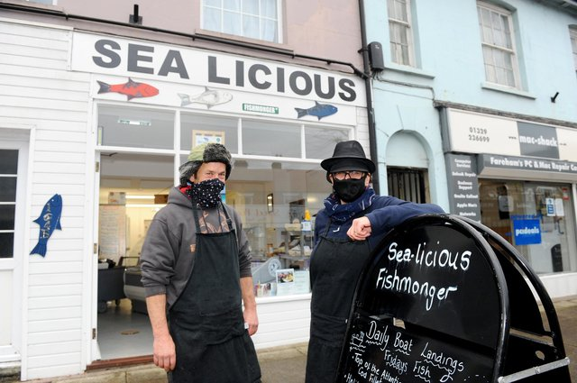 Owners of Sea-licious in West Street, Fareham, Zoe Marshall and her husband James. With lockdown over, Zoe believes it's essential residents support local small businesses.   Picture: Sarah Standing