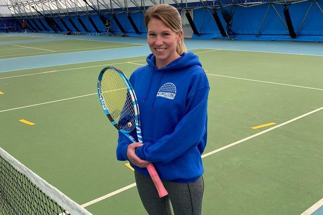 Claire Overton at the Portsmouth Tennis Academy on Burnaby Road