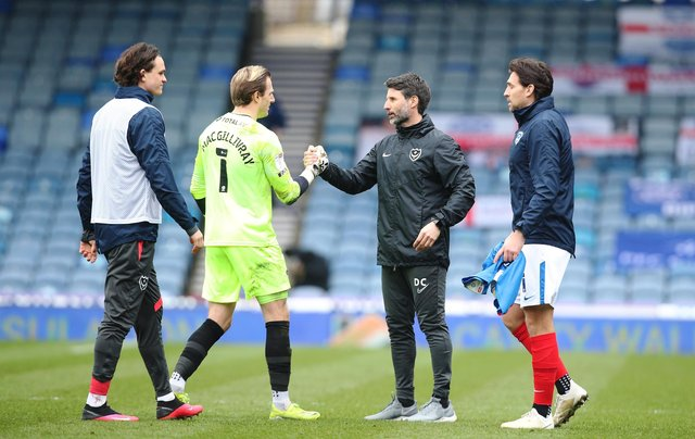 Danny Cowley and Craig MacGillivray, who is one of the out-of-contract players this summer