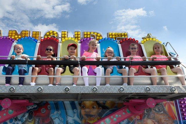 Children on on one of the new rides on South Parade Pier. Picture: Keith Woodland