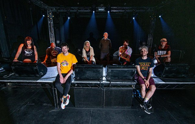 The Wedgewood Rooms staff take to the stage... Picture: Habibur Rahman