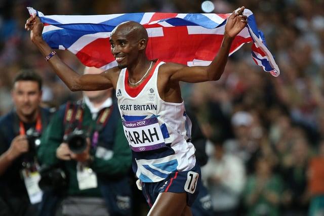 Mo Farah at the London 2021 Olympics