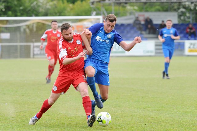 Baffins Milton Rovers have lacked a regular goalscorer since Jason Parish, right, rejoined AFC Portchester in 2019. Picture: Sarah Standing