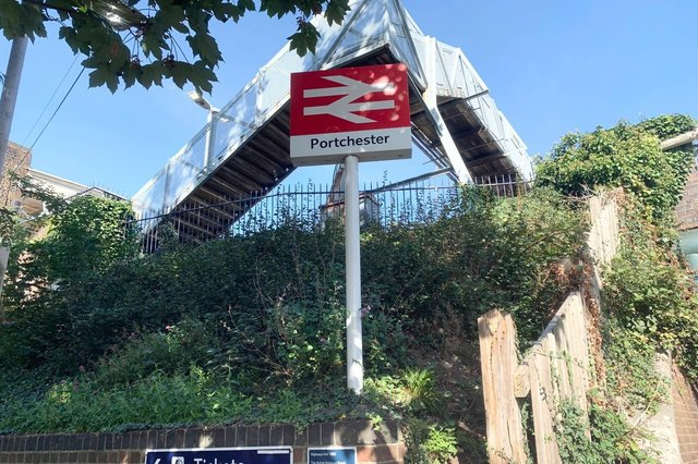 Portchester train station. Picture: Sarah Standing