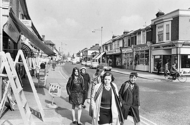 Fawcett Road in April 1971