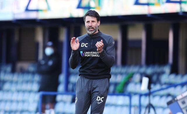 Pompey head coach Danny Cowley