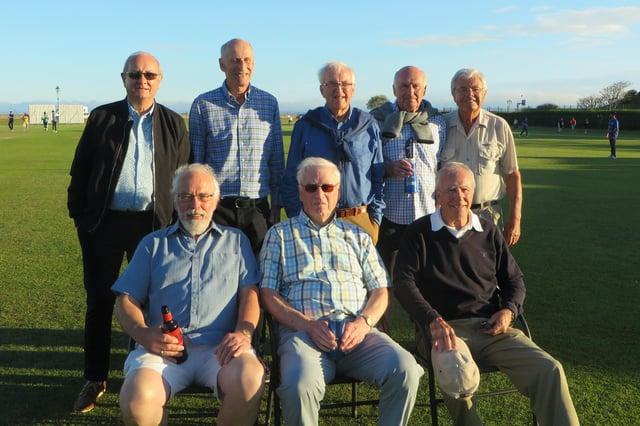 South Hants Touring Club veterans. Back (from left): Derek Wootton, Barry Stares, Terry Lewis, Arthur Shaw, Paul Flynn. Front: Keith Maslen, Ian Preston-Jones, Nigel Pollinger.